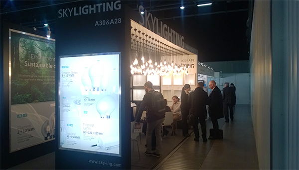 Lighting exhibition in Warsaw, Poland, 2016